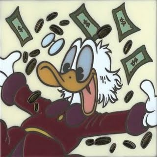 Scrooge McDuck in the money