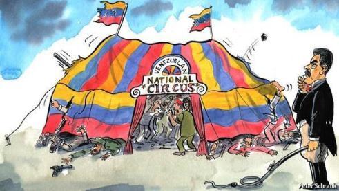 Caricatura-de-maduro-y-el-circo